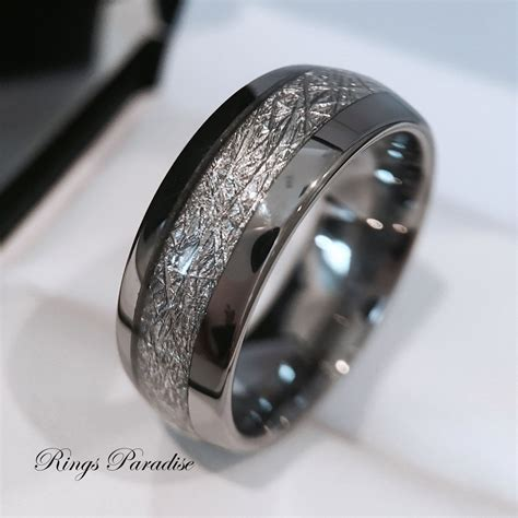 Tungsten Wedding Band, His and Her Promise Ring, Imitated