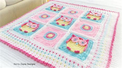 Crochet Owl Pattern Blanket by Owl Baby Blanket Pattern Kerry S Owl Blanket Owl