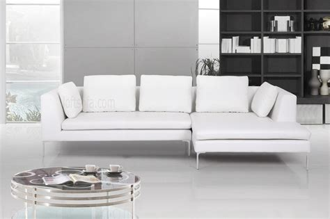 impressive affordable modern sofa 5 white leather modern