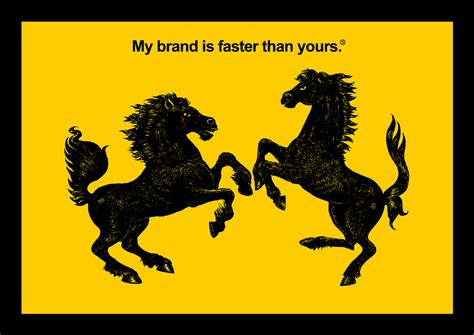ferrari horse vs mustang horse branding live fast die young and leave a good looking