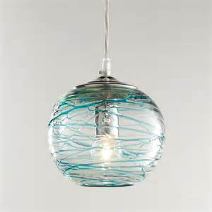 Glass Globe Pendant Light Swirling Glass Globe Pendant Light Available In 2 Colors Aqua Swirls