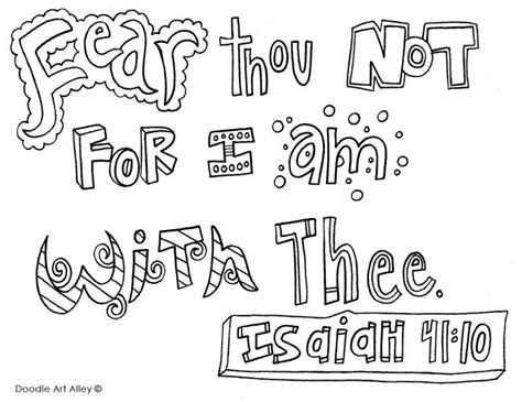 scripture art coloring page fearthounot jpg doodle colouring sheets bible verse