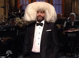 Mks Gilda Bow White zach galifianakis dons sia s wig for hilarious bit during snl s 40th bash daily mail
