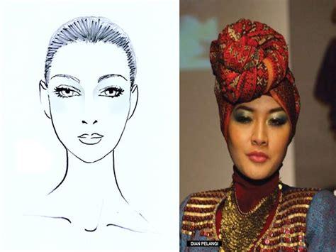 gambar bentuk wajah cara memakai hijab sesuai bentuk wajah all about hijab