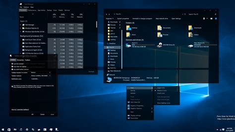 windows 10 10586 36 full glass theme desktop by mykou post your windows 10 desktop page 38