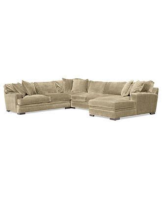 teddy fabric sectional living room from macys misc home teddy fabric sectional sofa 4 piece 148 quot w x 115 quot d x 30 quot h