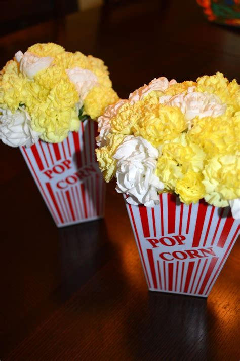 popcorn centerpiece ideas yellow and white carnation quot popcorn quot centerpieces for
