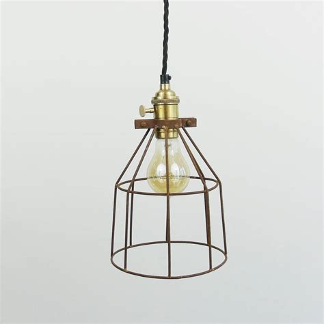 Wire Pendant Light Industrial Wire Cage Pendant Light By The Den Now Notonthehighstreet