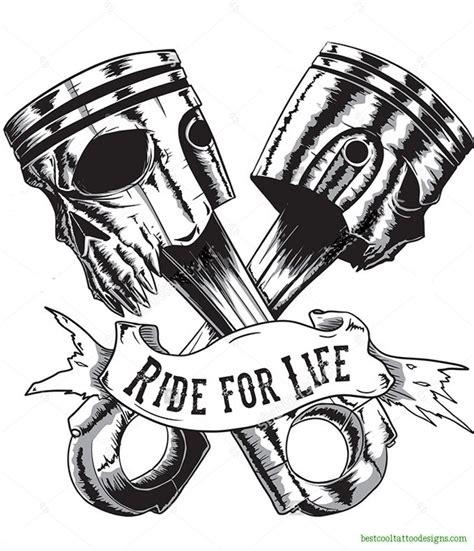 biker cross tattoos biker designs