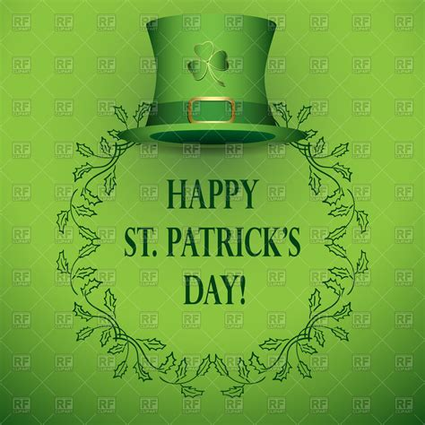 best royalty free st s day frame with top hat royalty free vector