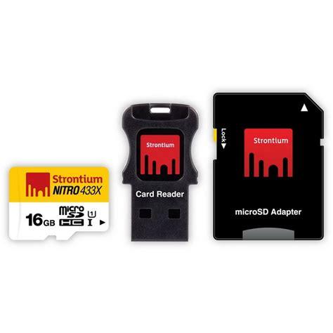Strontium Microsd Card strontium nitro433x srn16gtfu1c micro sd 16gb adapter card reader free shipping dealextreme