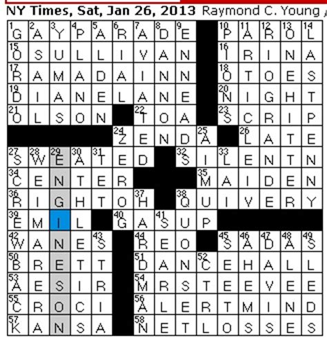 repeated theme crossword clue entertainment world rex parker does the nyt crossword