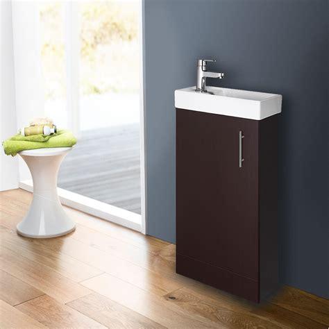 Bathroom Vanity Unit With Sink Compact Bathroom Vanity Unit Basin Sink Cloakroom 400mm Floor Wall Hung Ebay