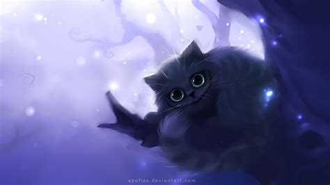 anime film with cats cheshire cat alice in wonderland hd wallpaper 1053567