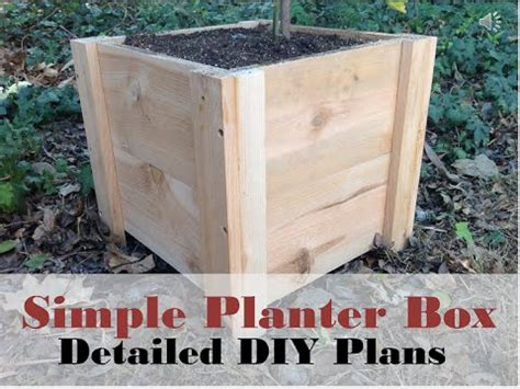 how to build a wooden planter box easy how to build this easy planter box diy cedar planter box tutorial