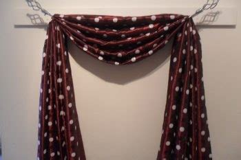 hanging scarf curtains the fourth great way to hang your scarf swag curtains