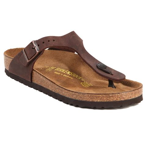 birkenstock sandals womens birkenstock gizeh leather sandal s evo