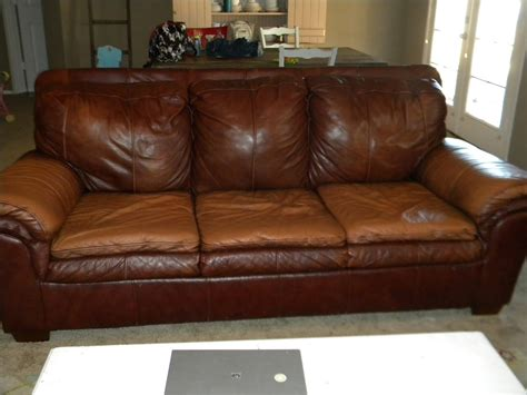 couch leather brown leather and suede sofa with right chaise and ivory