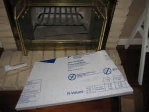 sealing a drafty fireplace adventures in diy