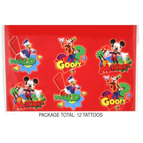 mickey mouse temporary tattoos mickey mouse clubhouse temporary tattoos