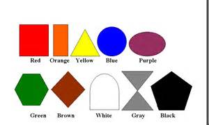 color shapes exercises colors activities beginners