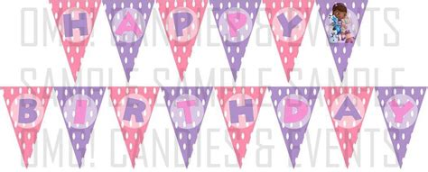 doc mcstuffins printable birthday banner doc mcstuffins happy birthday banner 8 50 via etsy