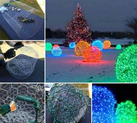 chicken wire christmas lights awesome diy light balls made from chicken wire pictures photos and images for