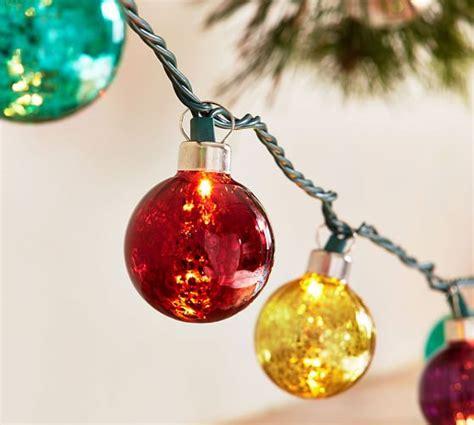 Jewel Tone Mercury Glass String Lights Pottery Barn Glass String Lights