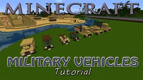 minecraft army jeep minecraft military vehicles tutorial humvee 5 ton and