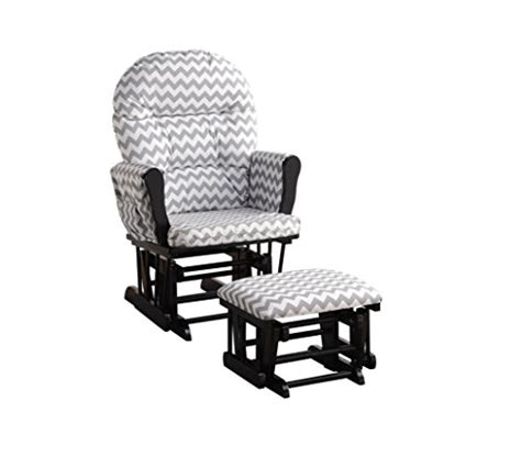home brisbane glider ottoman set white gray home deluxe multi position sleigh glider and ottoman