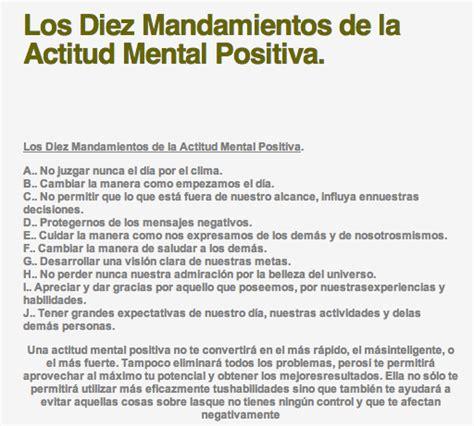 la actitud mental positiva 0307274055 razie samael los diez mandamientos de la actitud mental positiva