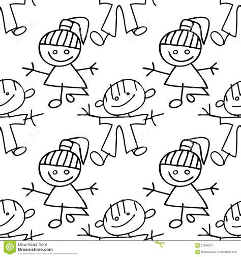 kid doodle vector free seamless pattern doodle stock vector image 27594031