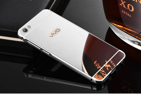 Casing Handphone Oppo Iphone Vivo Redmi Samsung vivo y55 bumper ขอบอล ม เน ยม ฝาหล งเงา silver เคสออปโป oppo vivo xiaomi huawei iphone