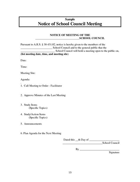 10 best images of sle notice of meeting sle