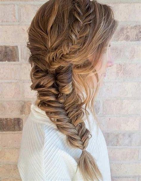 hair braid platting 21 pretty side swept hairstyles for prom fishtail braid