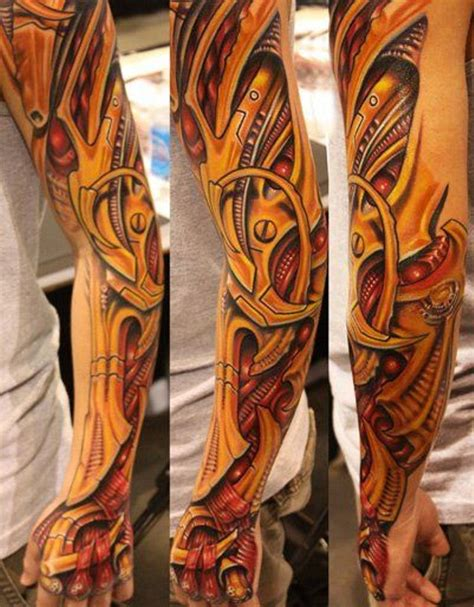 biomechanical tattoos biomechanical sleeve tattoos tattoofanblog
