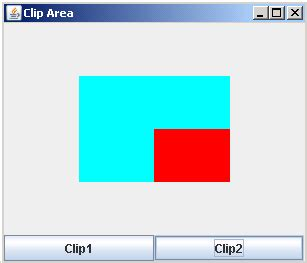 graphics in java swing clip area