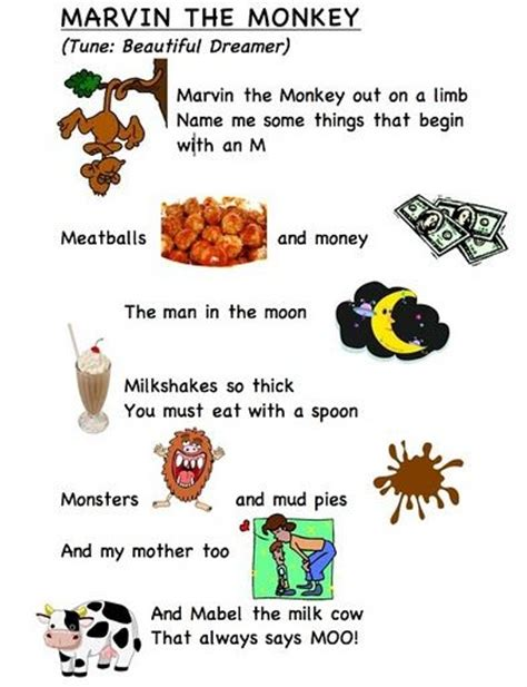 words of alphabet m mustaches and monkey free alphabet letter song m words by frog street press link