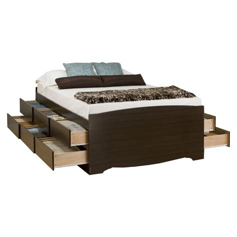 bed espresso captain s storage platform bed espresso