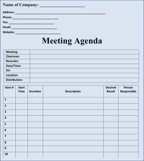 Resume Sample Word File by Download Blank Meeting Agenda Templates For Free
