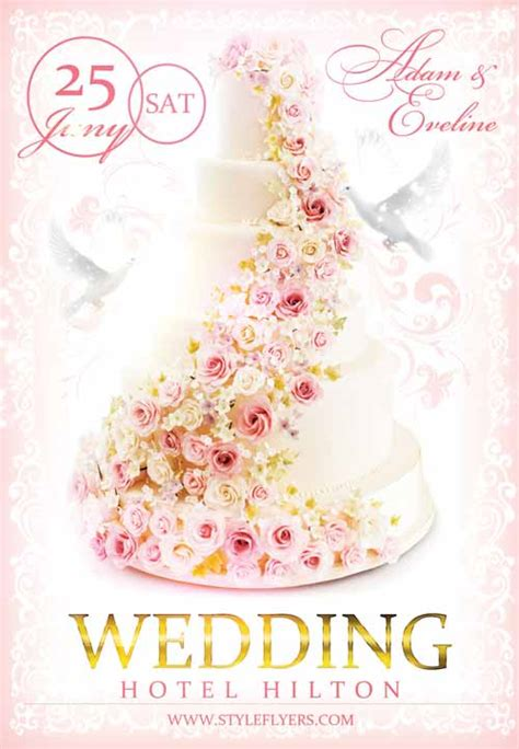 wedding layout template psd freepsdflyer download the wedding free flyer template