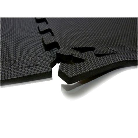 Work Out Floor Mats by 60 X 60 Cm Black Interlocking Soft Foam Exercise Floor