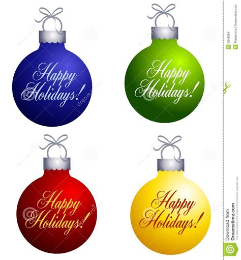happy holidays ornaments stock images image