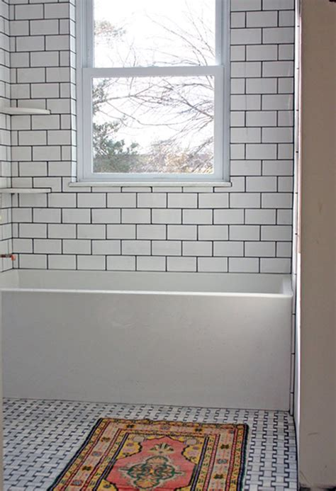 Black And White Subway Tile Bathroom by Black And White Bathroom Subway Tile