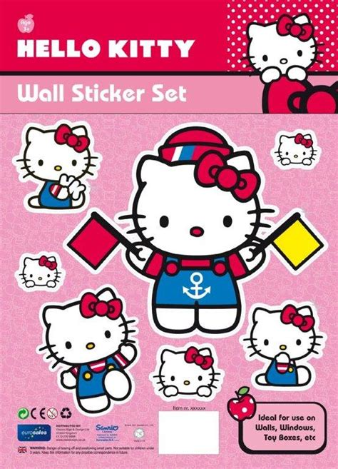 kitty wall stickers flags threelittlebearscouk