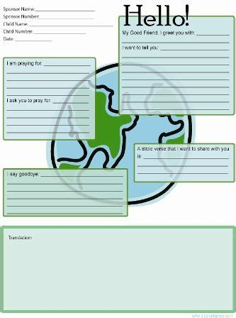 earth themed letter template atcompassion