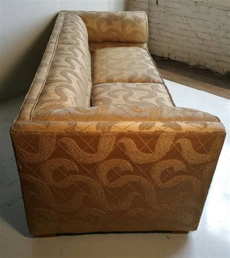 outstanding deco sofa original sculpted brocade fabric