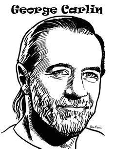 caricature de carlin | Dessin : Caricature | Pinterest