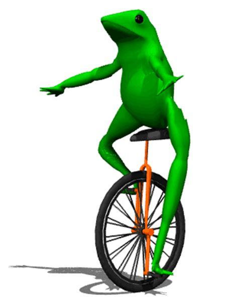 Unicycle Meme - unicycle frog gif dat boi know your meme