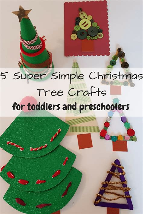 5 simple christmas tree crafts for toddlers odd socks
